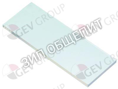 Ламповое стекло R71500150 Д 105мм Ш 40мм толщина материала 4мм Lainox HME202P